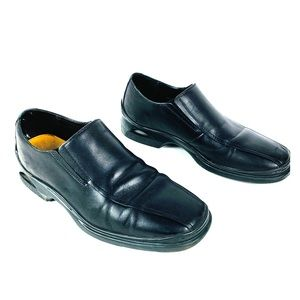 COLE HAAN Mens Black Leather Slip-ons size 8